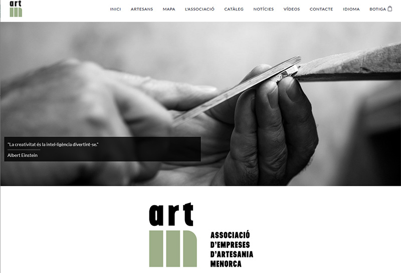 Web Artesans de Menorca