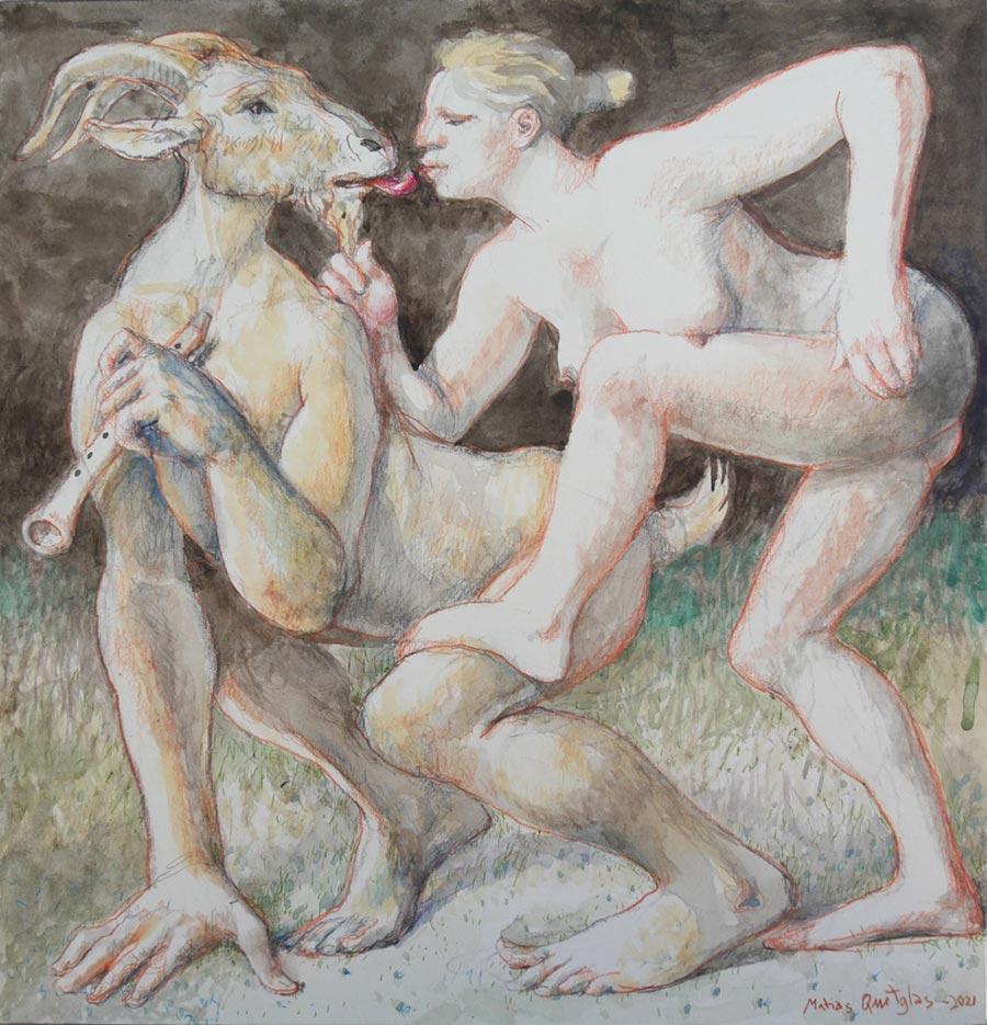 Encuentro carnal entre ninfa y fauno, de Matías Quetglas